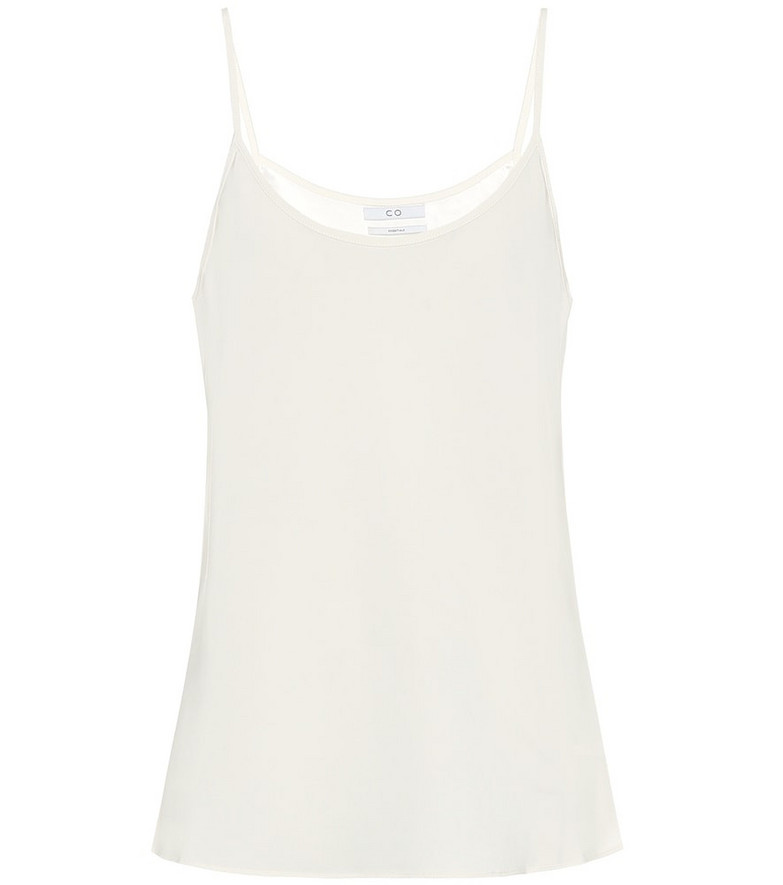 Co Stretch-crêpe camisole in white