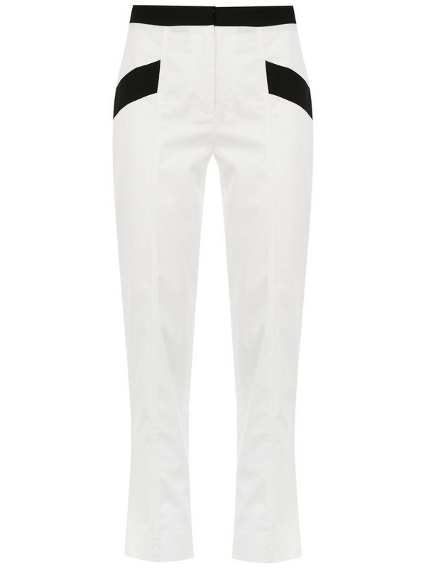 Mara Mac cropped trousers in white