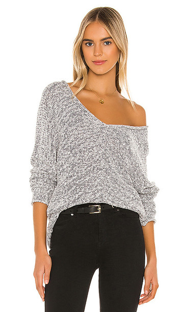 Free People Bright Lights Sweater in Black