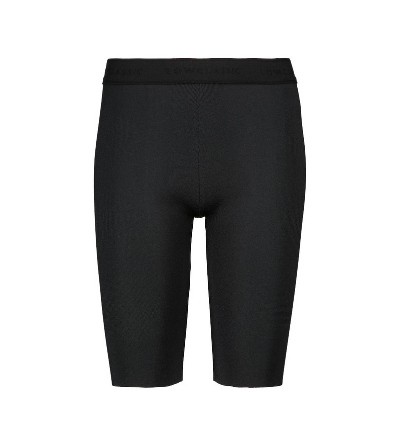 Low classic High-rise knit shorts in black