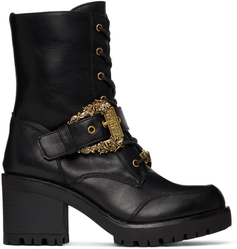 Versace Jeans Couture Black CoutureI Mia Boots in nero