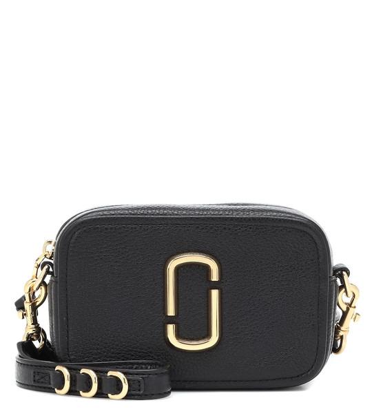 Marc Jacobs Softshot 17 leather crossbody bag in black