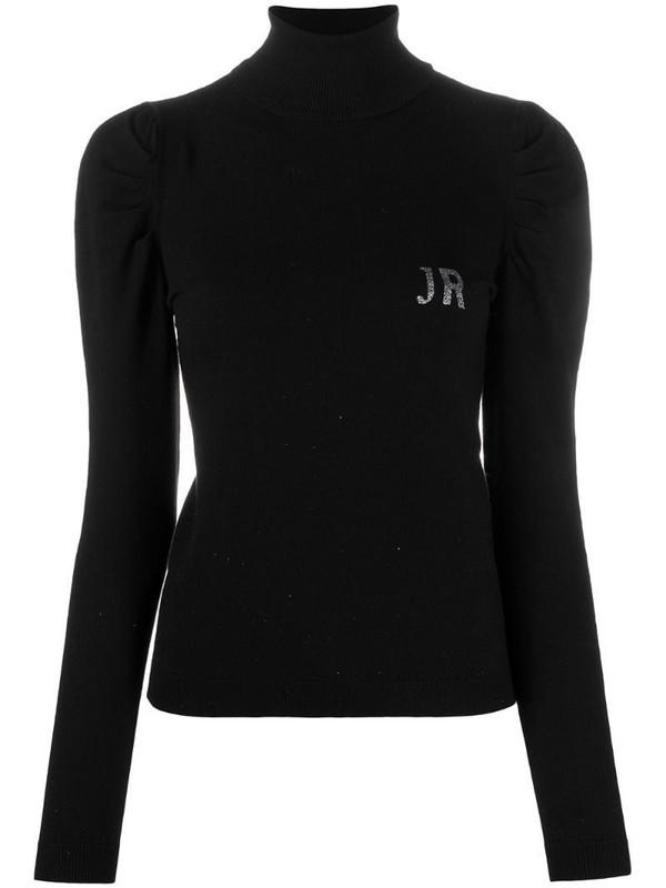 John Richmond glitter logo jumper in black