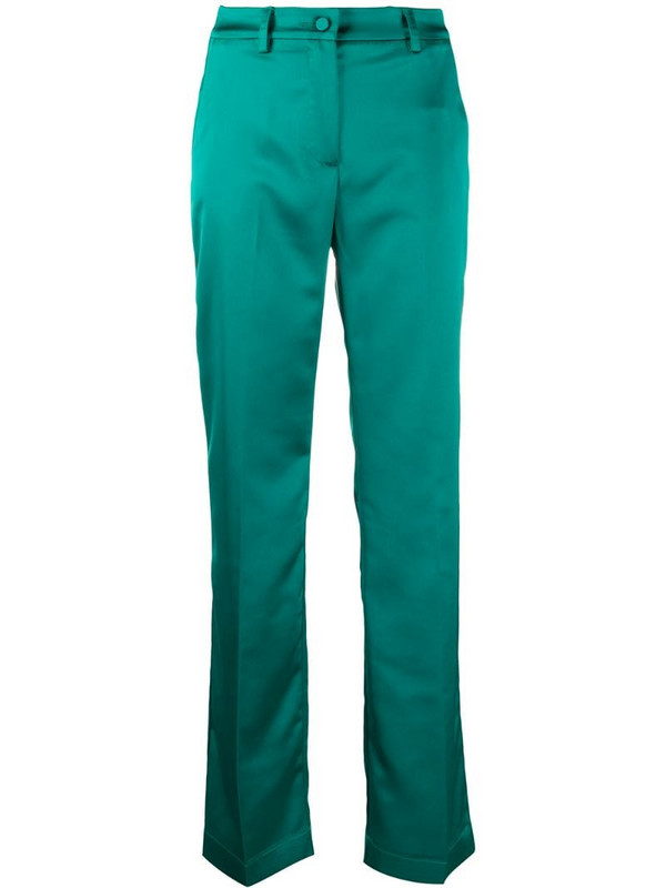Hebe Studio straight-leg tailored trousers in green