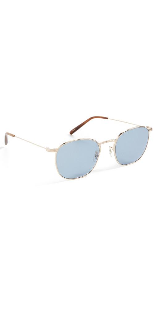 Oliver Peoples Eyewear Goldsen Sun Sunglasses in cobalt / gold