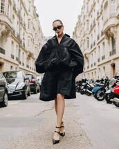 jacket,black jacket,bomber jacket,black shorts,oversized,black sandals,black sunglasses