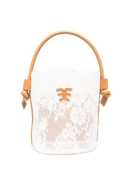 Ermanno Scervino lace bucket bag in white
