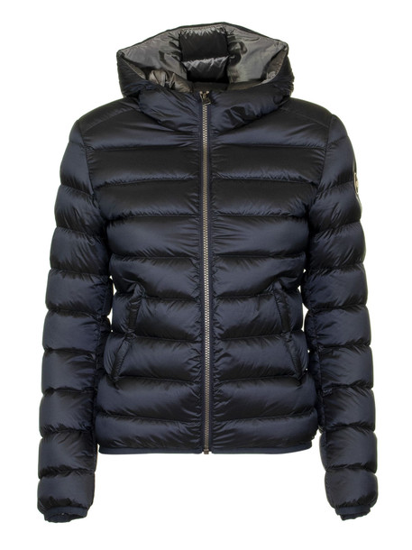 Colmar Place Short Down Jacket With Hood in blue