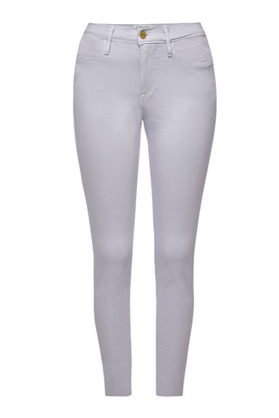 Frame Denim Le High Skinny Jeans  in purple