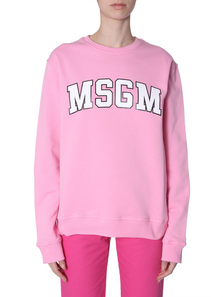 MSGM Sweatshirt With Printed Logo College