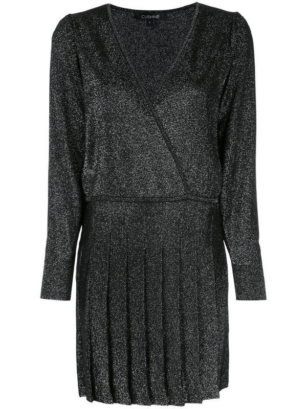 Cushnie v-neck wrap style dress in black