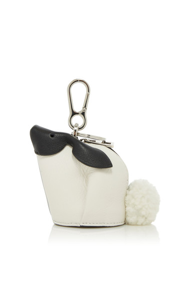 Loewe Bunny Two-Tone Leather Coin Purse in silver