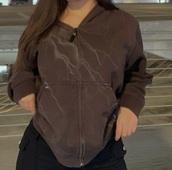 jacket,brown,brown jacket,zip,hoodie,y2k,aesthetic