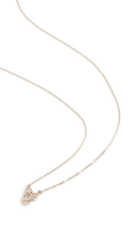 Adina Reyter 3 Diamond Barnacles Necklace in gold / yellow