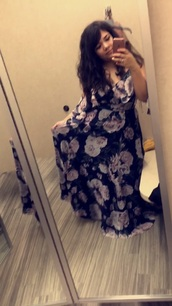 dress,maxi dress,wedding guest,formal dress,purple,blue,floral,prom dress