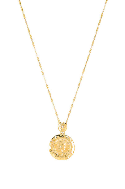 joolz by Martha Calvo Tesori Coin Necklace in gold / metallic