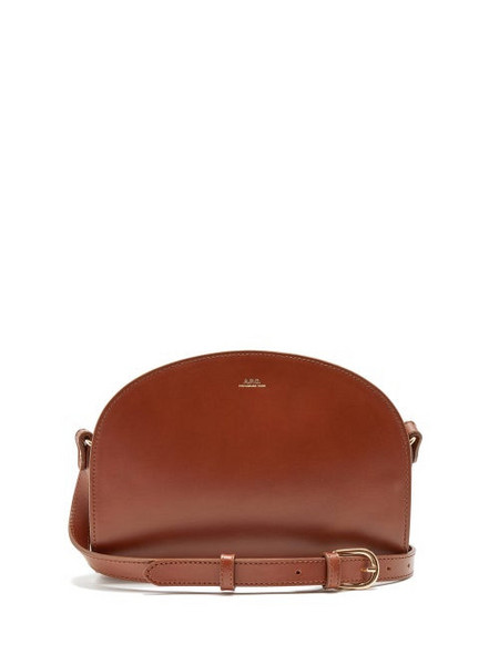 A.P.C. A.P.C. - Half-moon Smooth-leather Shoulder Bag - Womens - Tan