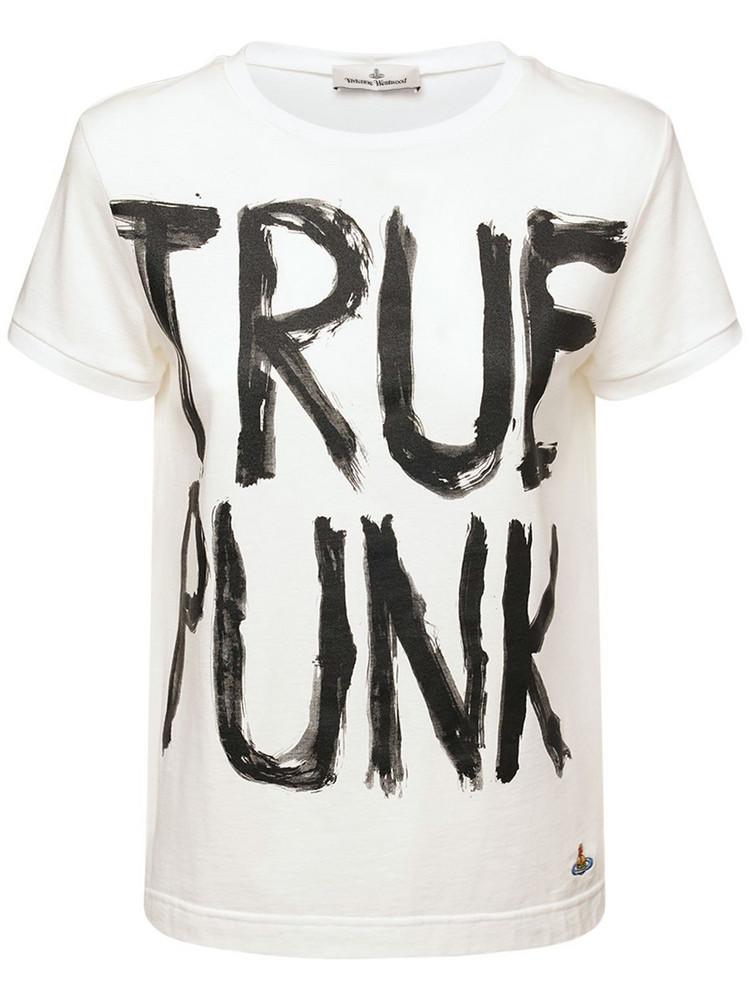 VIVIENNE WESTWOOD Lady Punk Cotton T-shirt in white