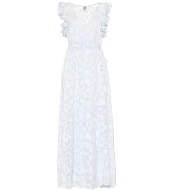 Baum und Pferdgarten Aiza silk-blend maxi dress in blue