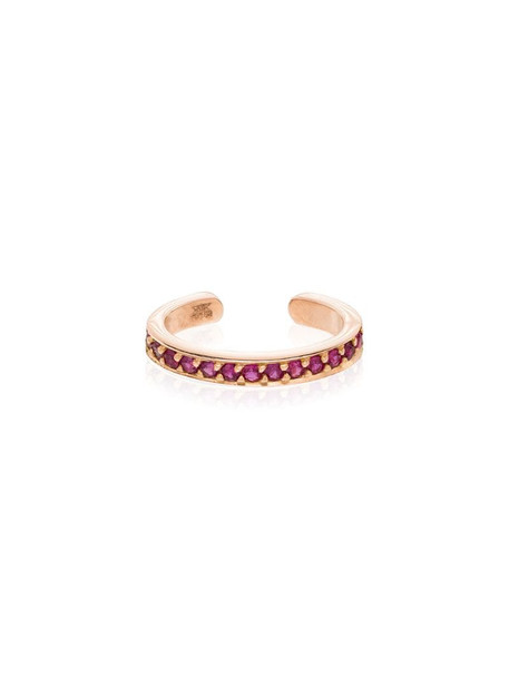 Anita Ko 18kt rose gold ruby ear cuff in pink