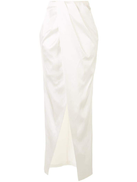 Manning Cartell long wrap front skirt in white