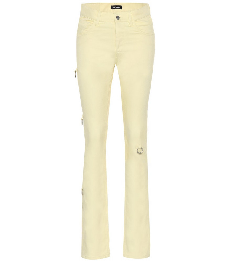 Raf Simons Mid-rise slim jeans in yellow