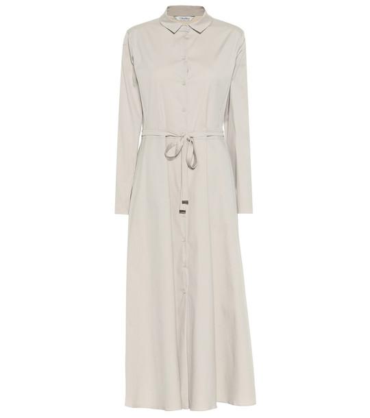 S Max Mara Vernice cotton blend maxi dress in beige