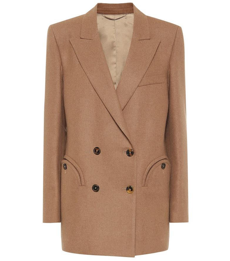 Blazé Milano Cholita Everyday wool-blend blazer in beige