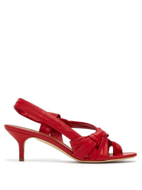 Malone Souliers - Wylie Cross Strap Slingback Leather Sandals - Womens - Red