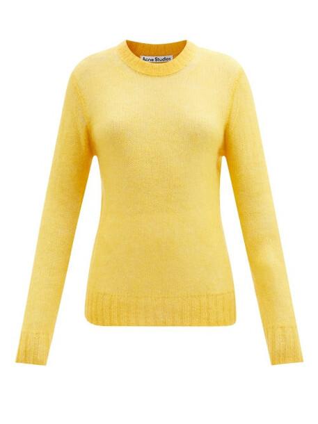 Acne Studios - Longline Mohair-blend Sweater - Womens - Yellow