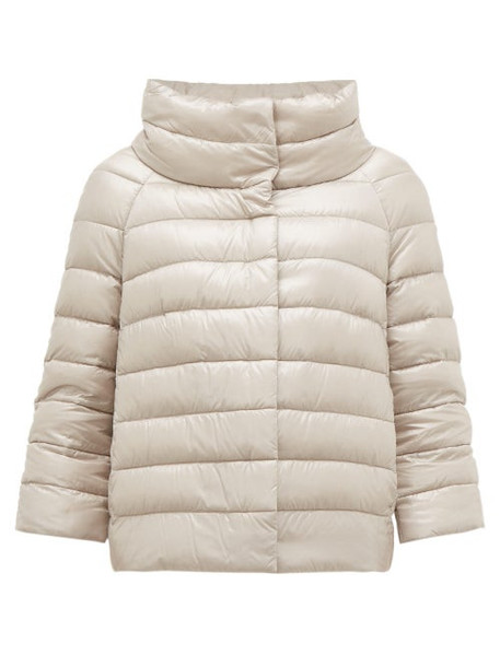 Herno - Sofia Quilted Down Jacket - Womens - Silver