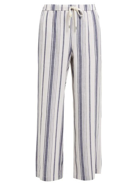 Weekend Max Mara - Billy Trousers - Womens - Navy White