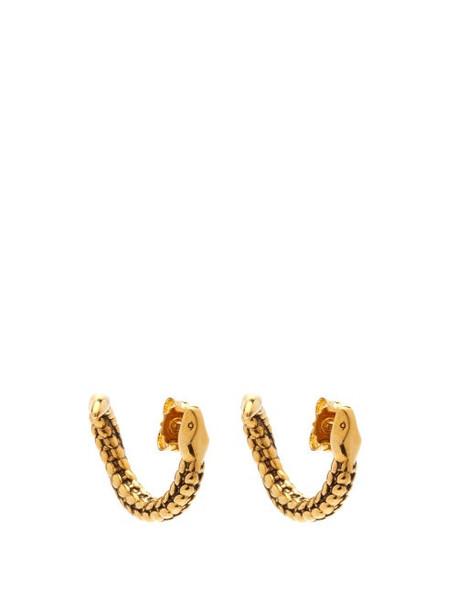 Aurélie Bidermann - Snake 18kt Gold-plated Earrings - Womens - Gold