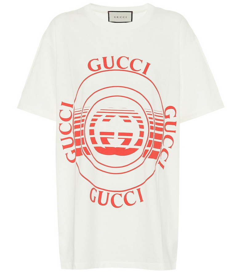 Gucci Logo cotton-jersey T-shirt in white