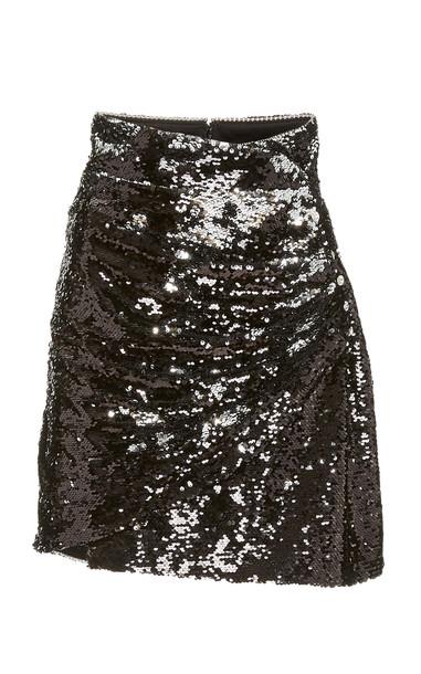 Dundas Sequin Mini Skirt in black