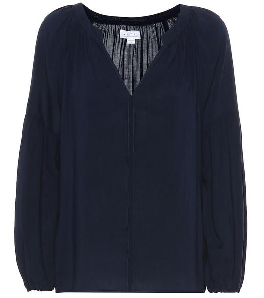Velvet Elaine blouse in blue
