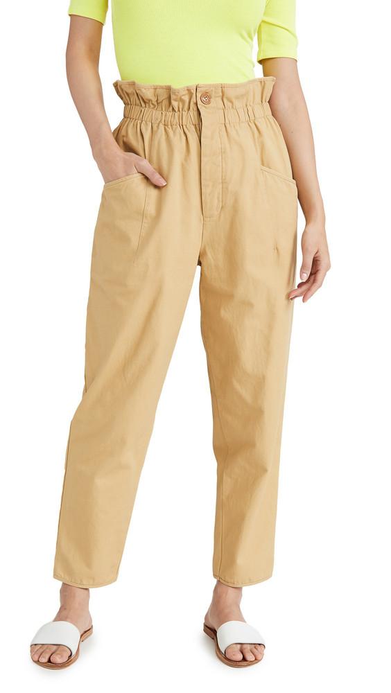 endless rose Elastic Waist Cargo Pants in beige