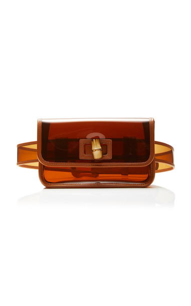 Zimmermann Leather-Trimmed PVC Belt Bag in brown