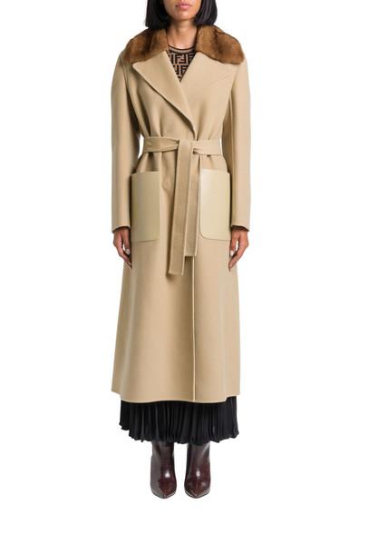 Fendi Cashmere Double Coat With Mink Fur Collar
