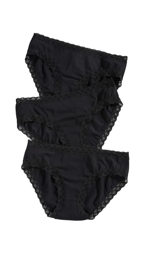 Natori Bliss Girl Briefs 3 Pack in black