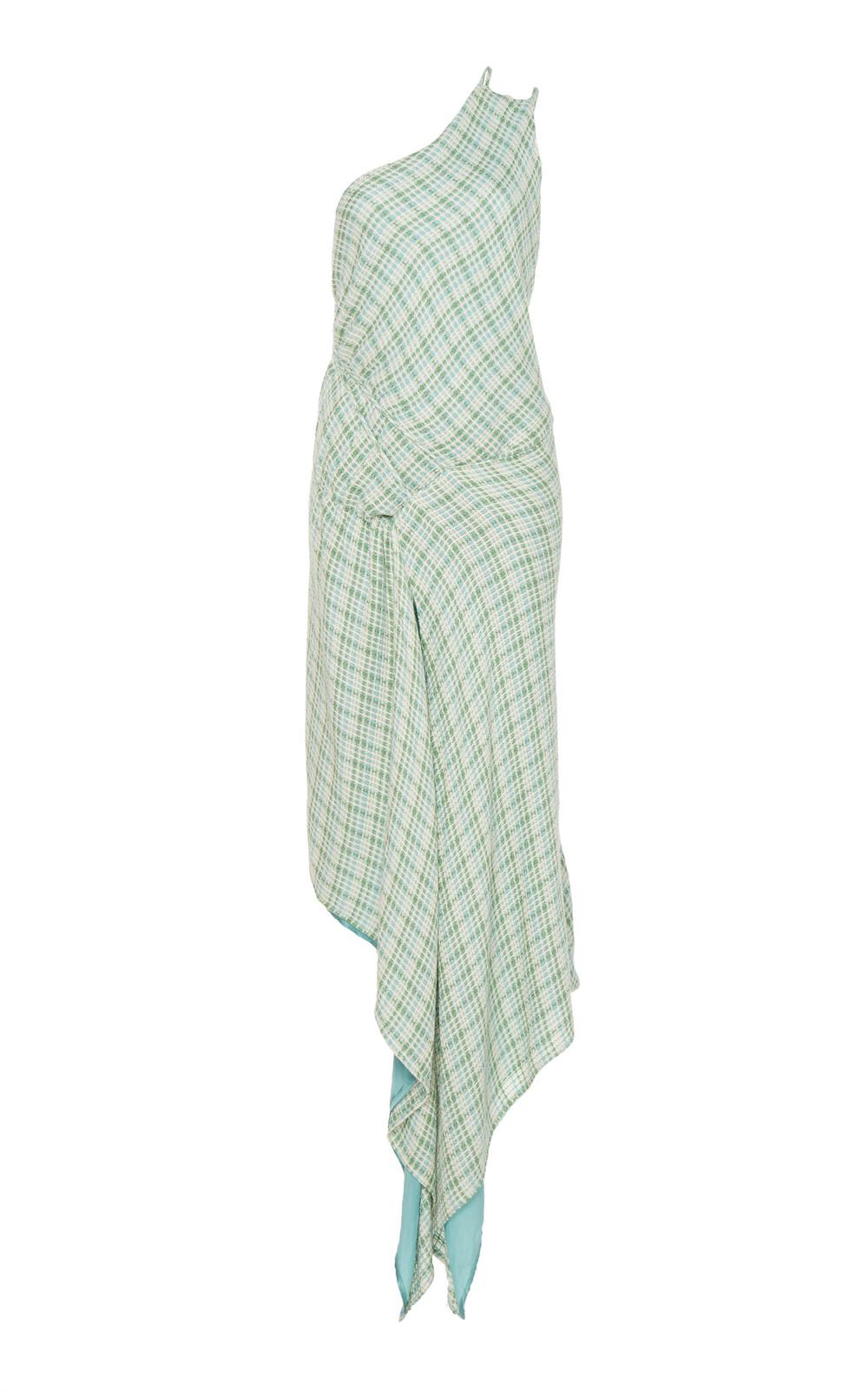 Cult Gaia Sola Handkerchief-Hem Midi Dress Size: XS in green