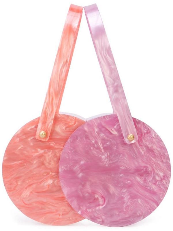 Edie Parker marble clutch bag in purple