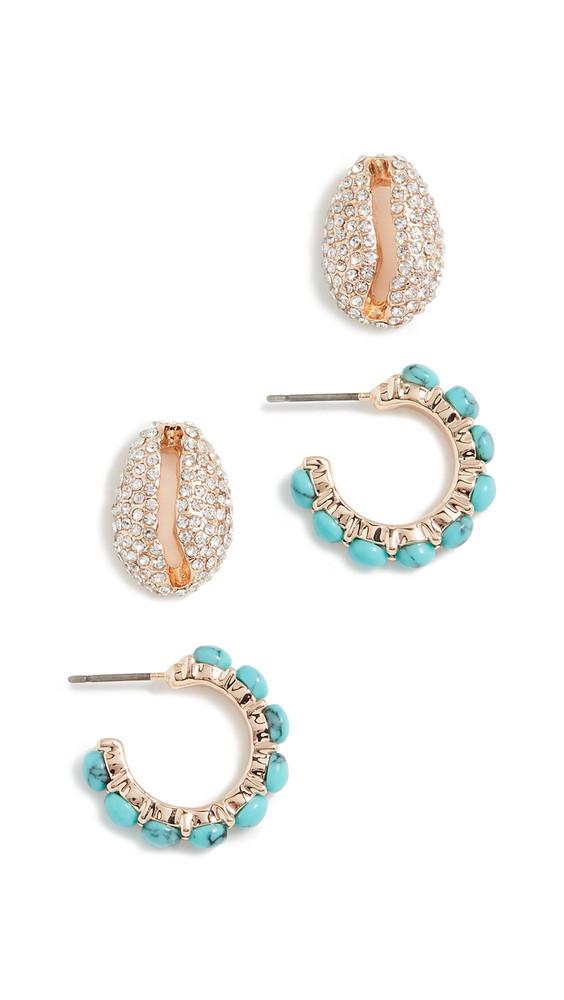 BaubleBar Grenada Earring Set in gold / multi