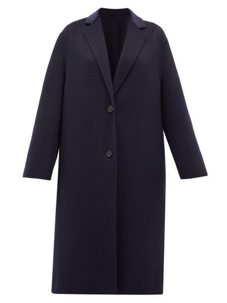 Joseph - Newman Single-breasted Wool-blend Coat - Womens - Navy