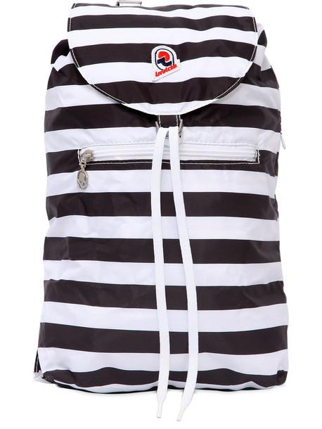 INVICTA Minisac Striped Backpack Nylon in black / white