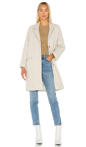 AMUSE SOCIETY Siena Wool Coat in Beige