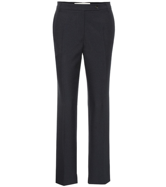 Golden Goose Venice cropped mid-rise pants in blue