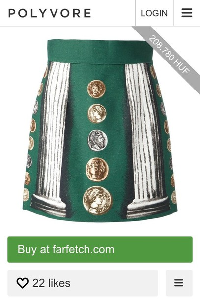 skirt dolce and gabbana ancient rome coins