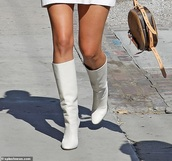 shoes,white heels boots,high boots,knee white boots,white shoes,white boots,white heels,high heels,knee high boots,knee-high boots,over the knee boots,knee length