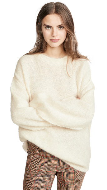 Free People Angellic Sweater in ivory